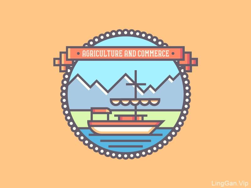 用线条讲故事!20款矢量徽章Logo设计