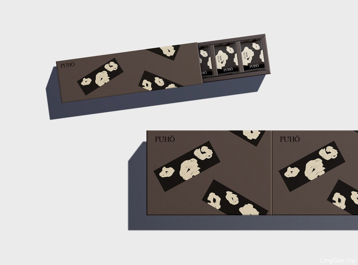 抽象简约!凤梨酥食品包装设计