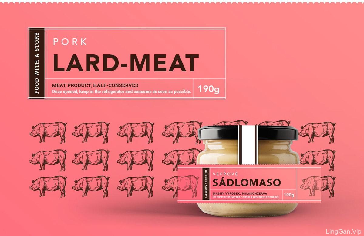 手绘插画!肉制品包装设计