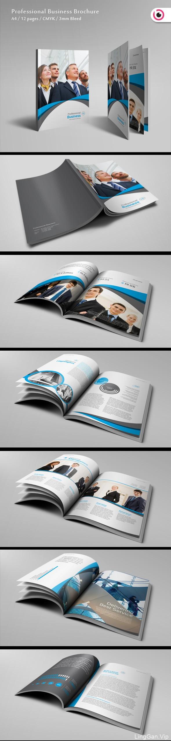 专业商务小册子模板#画册模板