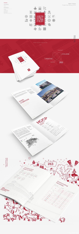 尚8南开 国际产业园红色风格画册手册海报设计