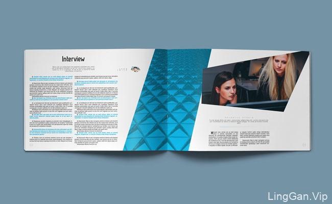 国外蓝色风格的NOVO创意画册模板设计欣赏