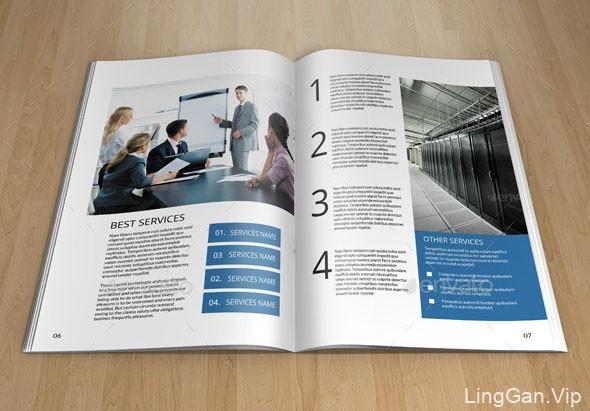 国外设计师Mahbubur的商务企业画册模板设计