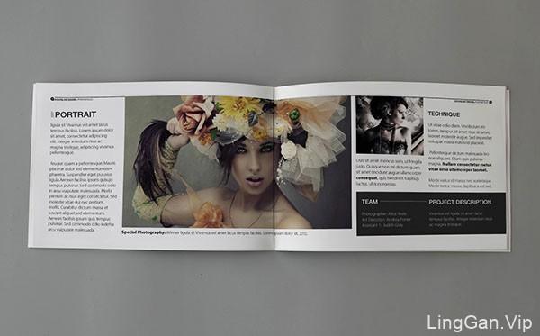国外设计师LisbelCruz黑白风格的摄影画册设计模板