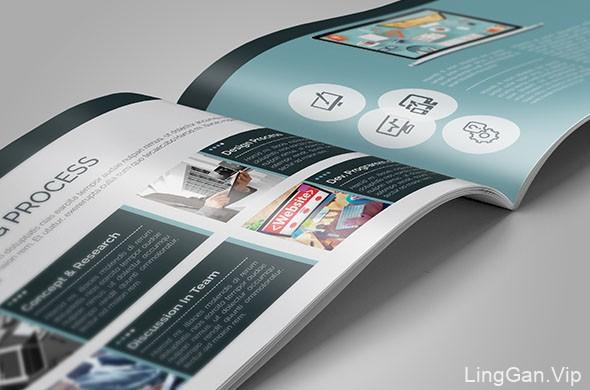 国外设计师CRISTAL Pioneer企业画册模版设计分享