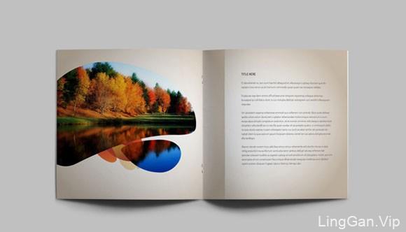 分享一本国外的时尚唯美的画册模板设计14P