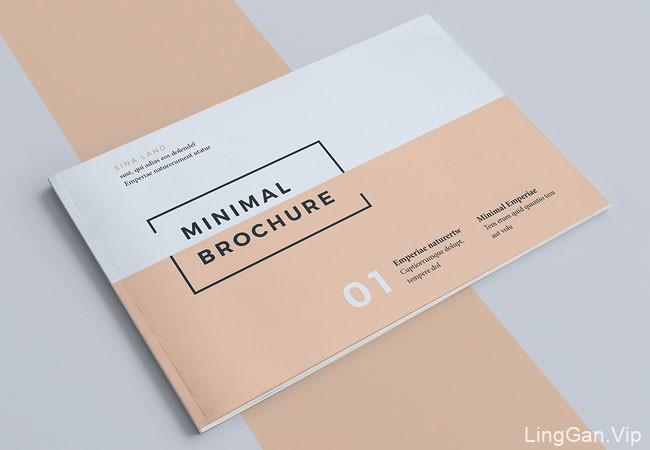 小尺寸的Minimal BROCHURE介绍手册设计/画册