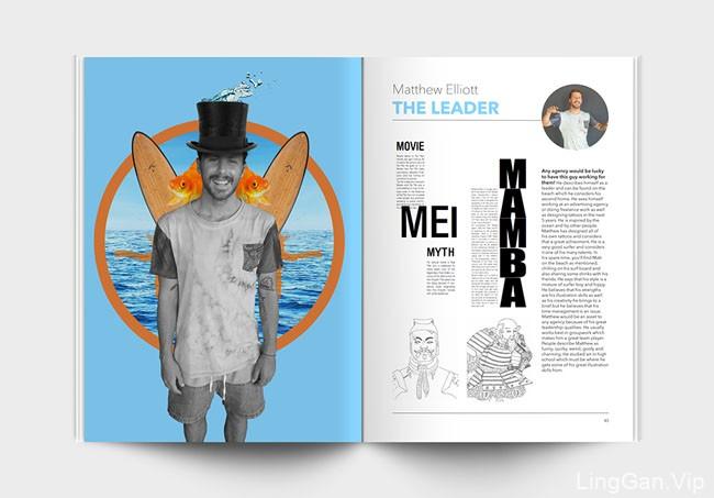 国外Alter Ego大学生就业人物介绍画册设计(26P)