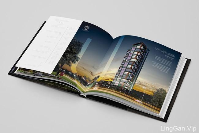一款国外简约大气的Livium建筑类画册设计分享