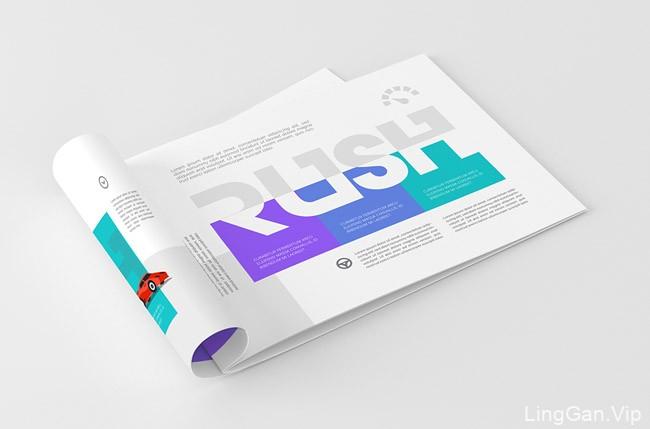 A4尺寸的小清新风格横版画册设计模版分享