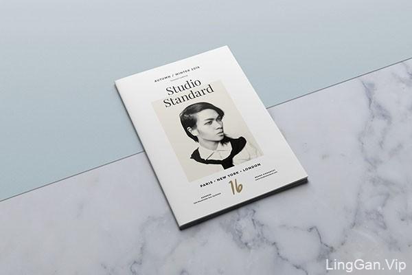 欧美风格Studio Standard时尚行业的画册设计模板