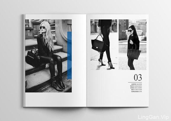欧美风Back to Black时尚手册/画册设计欣赏