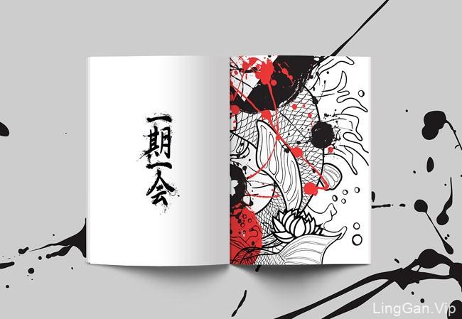 带有中国风的彰显个性的Cuji鸡尾酒菜单设计分享
