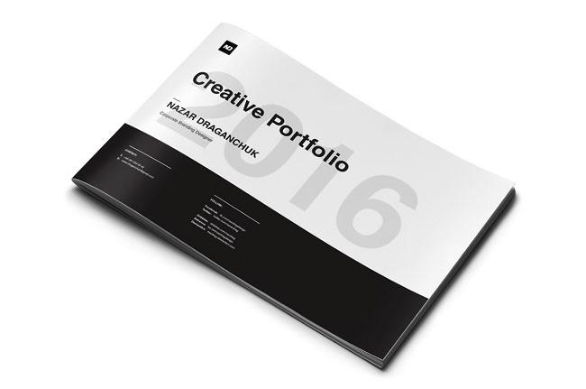 黑色及简的creativePortfolio创意设计作品分享
