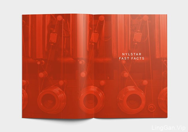 国外Nylstar尼龙纱品牌年度报告企业画册设计