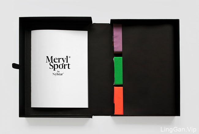 国外Meryl Sport新款体育服装行业的面料介绍画册设计