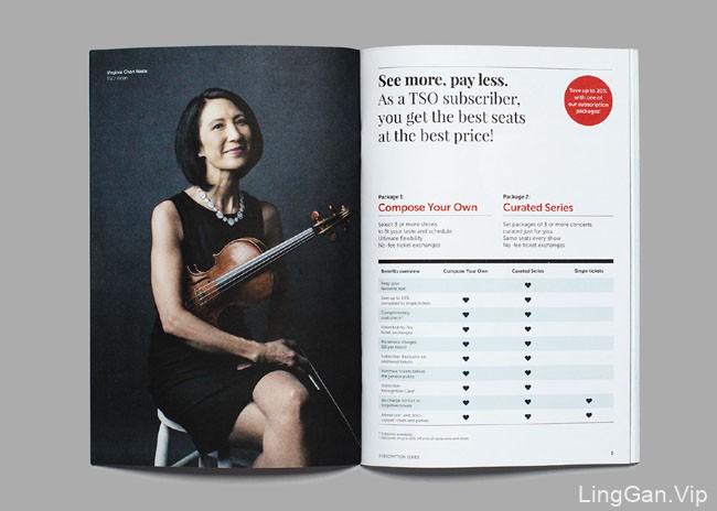 多伦多交响乐团最新宣传画册设计