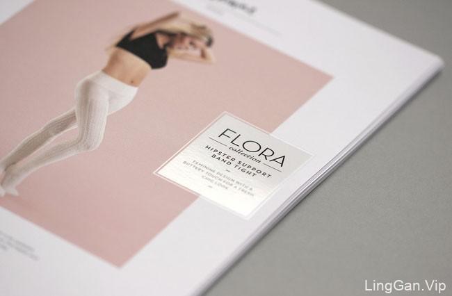 国外BLANQI女性护腿丝袜品牌时尚画册设计