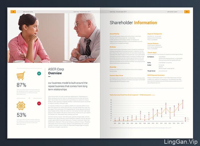 国外ASER企业年报画册设计