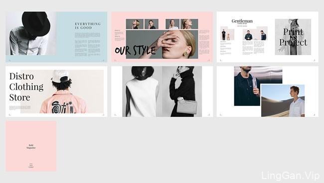 国外Bold时尚杂志设计封面及页面设计