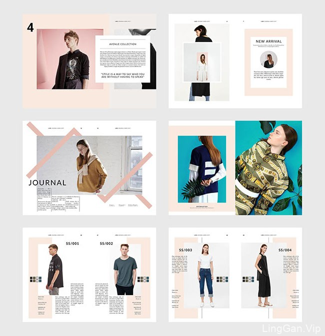 印尼设计师Rifqi Ali Ridho时尚服装画册模版设计