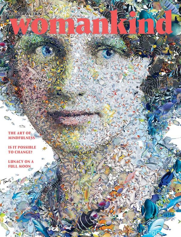 国外《Womankind》女性杂志三周年12期封面设计(二)