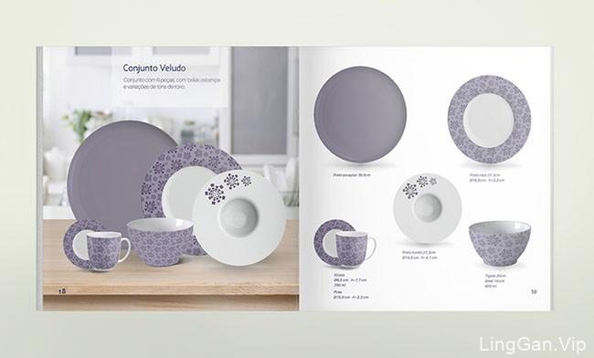 国外DZ餐具品牌产品画册设计