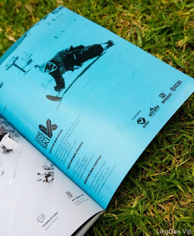国外Kustom滑雪板新版画册设计