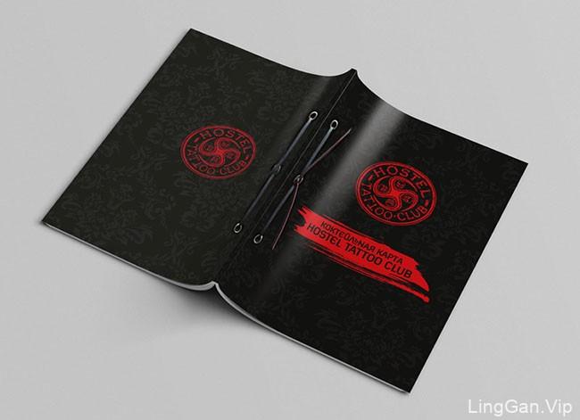 国外Hostel Tattoo纹身俱乐部鸡尾酒菜单设计