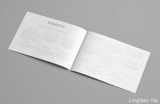 国外RIMBAUD公寓宣传画册设计作品