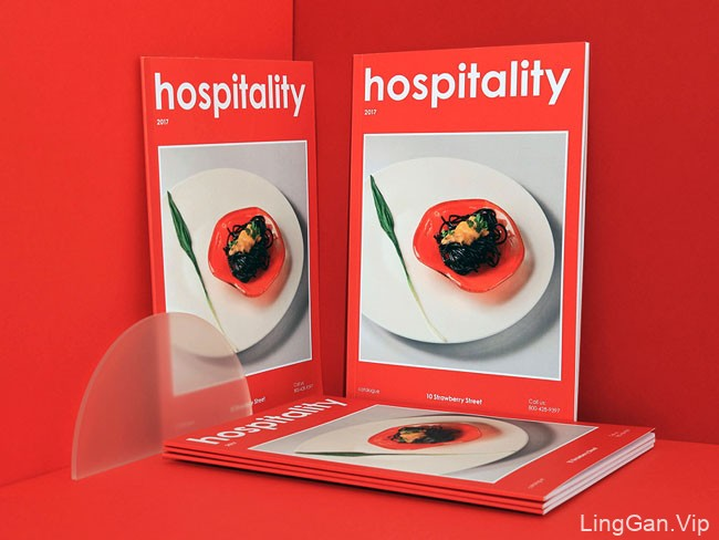 国外10 Strawberry Street美食目录画册设计