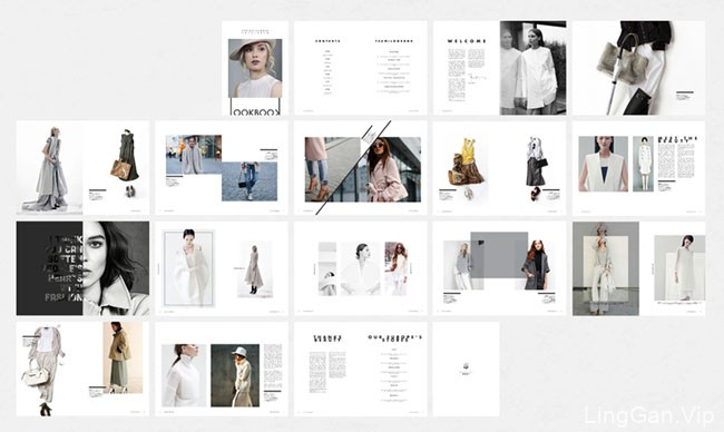 国外一款适合时尚品牌的画册模版设计作品