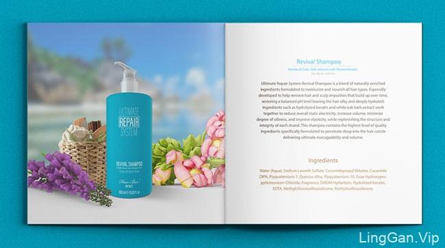 国外Hair Care NYC头发护理产品画册设计作品