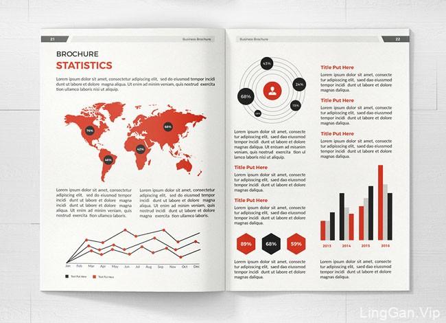 美国设计师Mondo Design商务画册模版设计