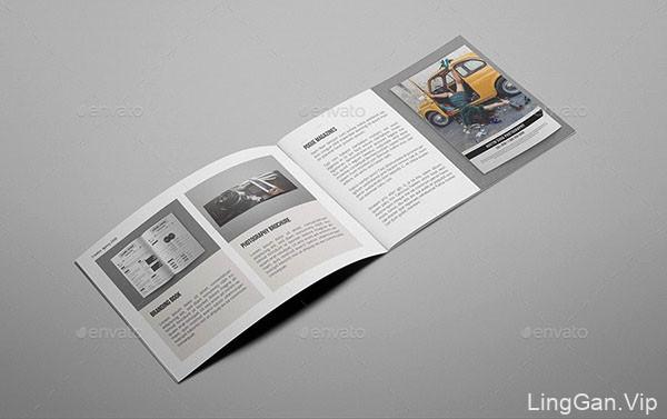 一款国外适合创意机构使用的画册模版设计案例