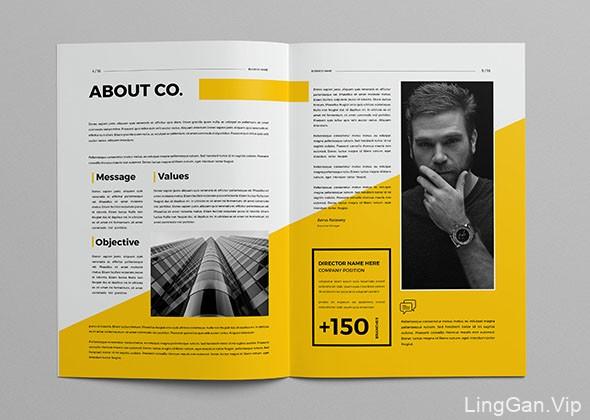巴勒斯坦设计师AbdElrahman商务画册模版设计作品