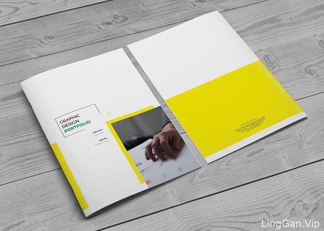 国外竖版A4尺寸商务画册设计案例