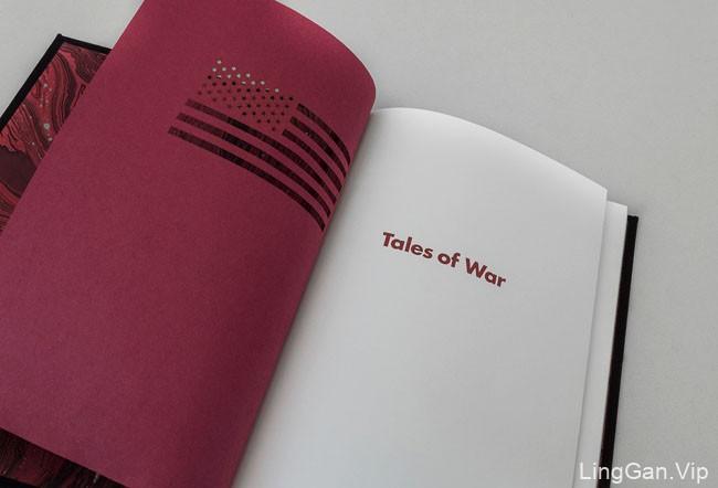 国外精美的《Tales of War》书籍装帧设计