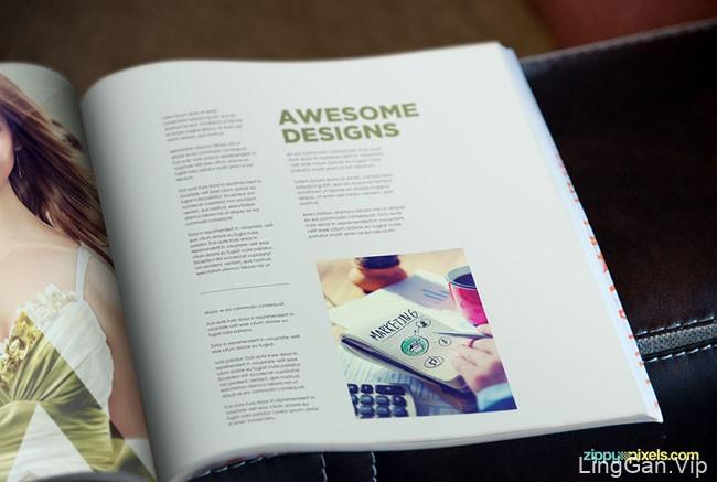 设计师Zippy Pixels简约时尚的方版杂志模版设计