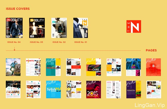 The Nobility杂志版面设计作品