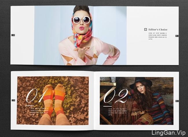 国外Ahsanjaya Corp时尚画册模版设计作品NO.3