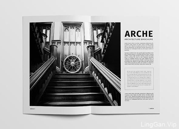 黑色系的建筑画册模版设计作品