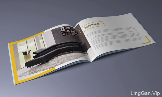国外ANSAM OKOUR室内家具装饰类画册模版设计