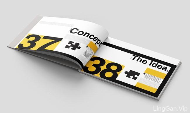 国外Helvetica字体手册版式设计作品