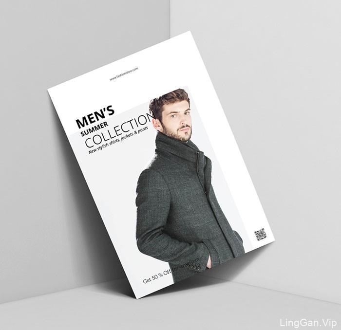 时尚简约风格的时装品牌宣传单设计
