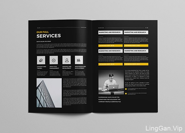 一本简约大方的企业画册设计作品