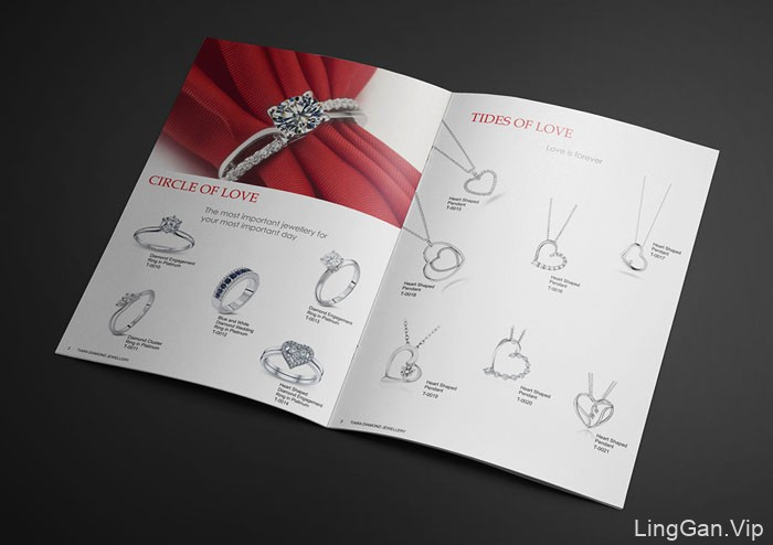 国外TIARA珠宝品牌目录画册设计