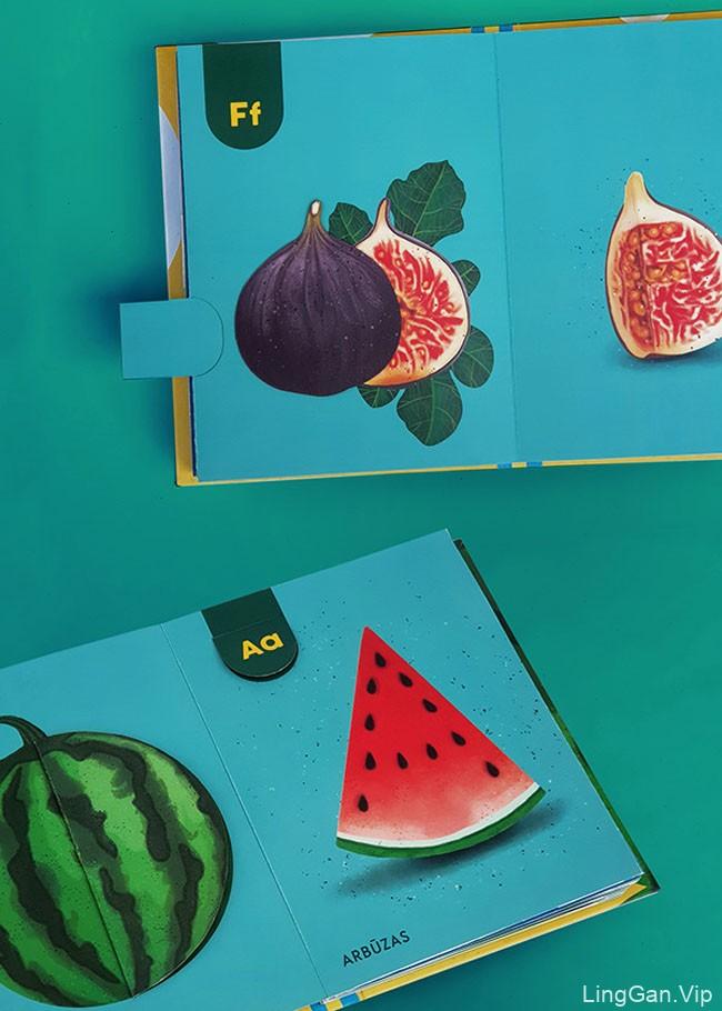 Arina Ringyte互动式儿童字母学习书籍设计