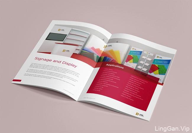简洁大方的SABIN PLASTIC企业画册设计