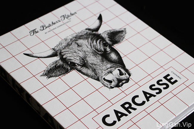 Carcasse餐厅肉类食谱书籍装帧设计